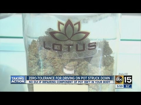 Arizona court finds pot not subject to DUI law