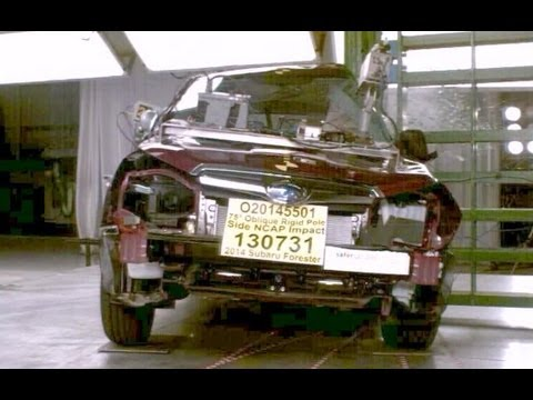 2014 Subaru Forester | Pole Crash Test by NHTSA | CrashNet1