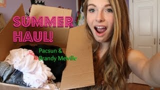 BeautyandFashionPlus – Brandy Melville & Pacsun Summer Haul!