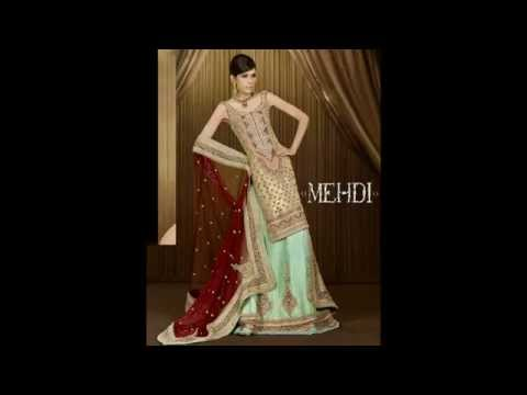 Latest Pakistani New Bridal Dresses Collection 2014  for Women by Mehdi