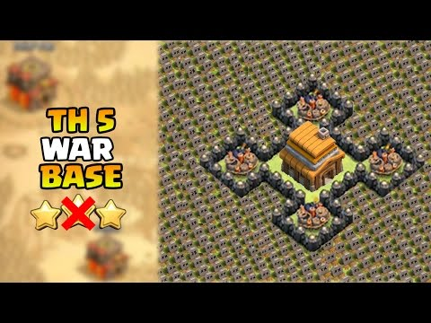 Clash of Clans - BEST Town Hall 5 War Base | CoC TH5 Defense Base / Attack Strategy 2015