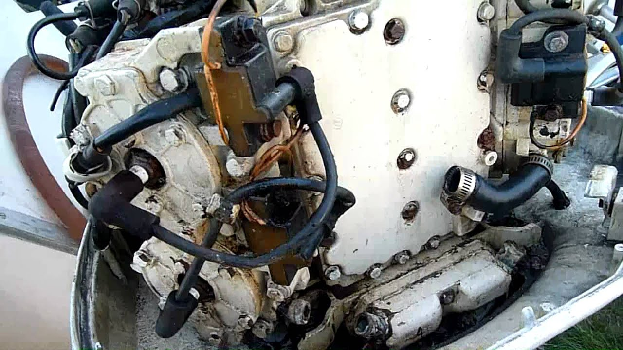 how to clean outside of an old outboard motor