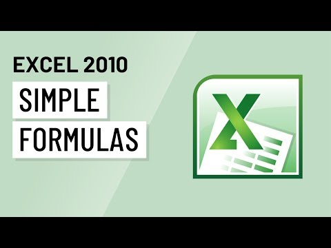 Excel 2010 Tutorial HD - Simple Formulas