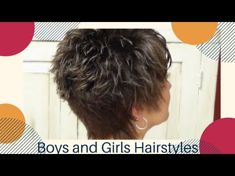 Short Hairstyle with Unique Back Hair Tutorial