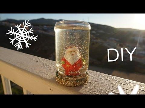 DIY Idée de cadeau Boule à Neige / Christmas Gift Snow Globe