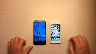 Speedtest LG G2 Vs. IPhone 5
