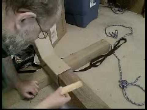 Assembling a hammock stand from a kit - YouTube