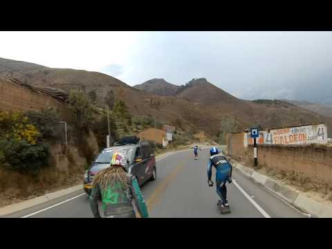 Bombing Hills in Peru - Andes Mountains