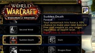 Warlords Of Draenor (Beta): New Warrior Talent: SUDDEN