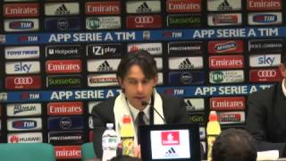 Milan, Inzaghi: 'Stiamo crescendo e crediamo nel terzo posto'