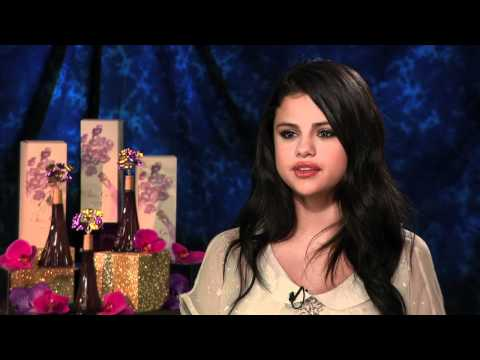 Selena Gomez talks about Justin Bieber, perfume and living in the spotlight with Andrew Freund