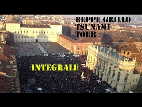 Beppe Grillo - Piazza Castello Torino 16 Febbraio - Movimento 5 Stelle INTEGRALE