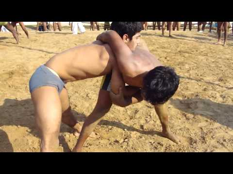 KRISHAN PAHALWAN A fierce grappling match