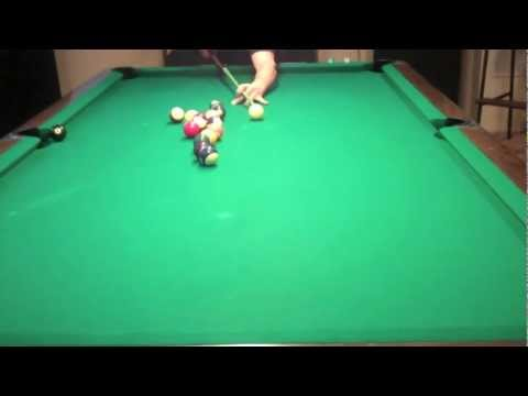 Billiard Lessons -3 Rail Kick in Side Pocket.