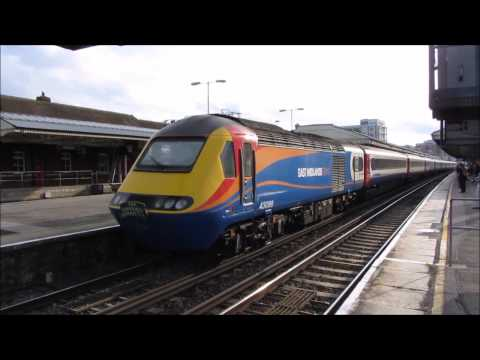 East Midlands Trains HST at Basingstoke 14/06/2014