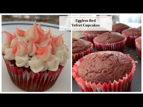 Eggless Red Velvet Cupcakes | How To Make Eggless Cupcakes |