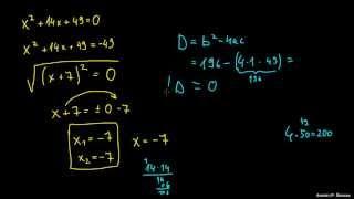 Izpeljava kvadratne enačbe – primer 3