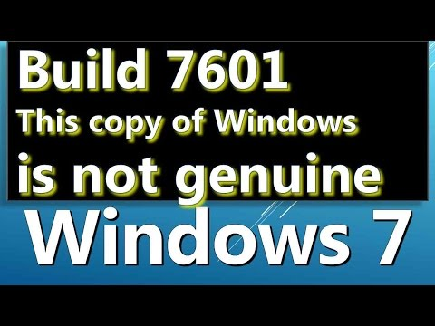 how to fix build 7601 not genuine error