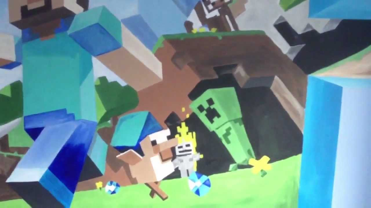 minecraft mural viewing gallery