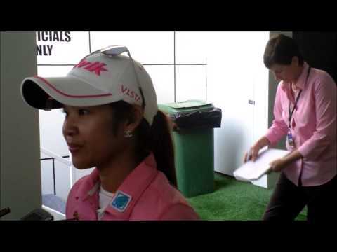 Pornanong Phatlum after her 3rd round 69 at the Omega Dubai Ladies Masters