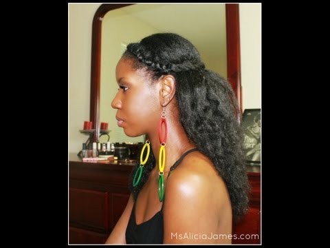 "Twisted Half Updo - Spring/Summer ""Natural Hairstyle"""