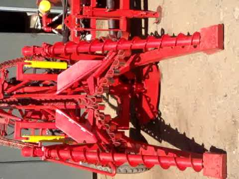 Walpeco Hodge Sugar Cane Whole Stick Harvester Cutter CutterStraightVideo SpiralRaiseFrontView