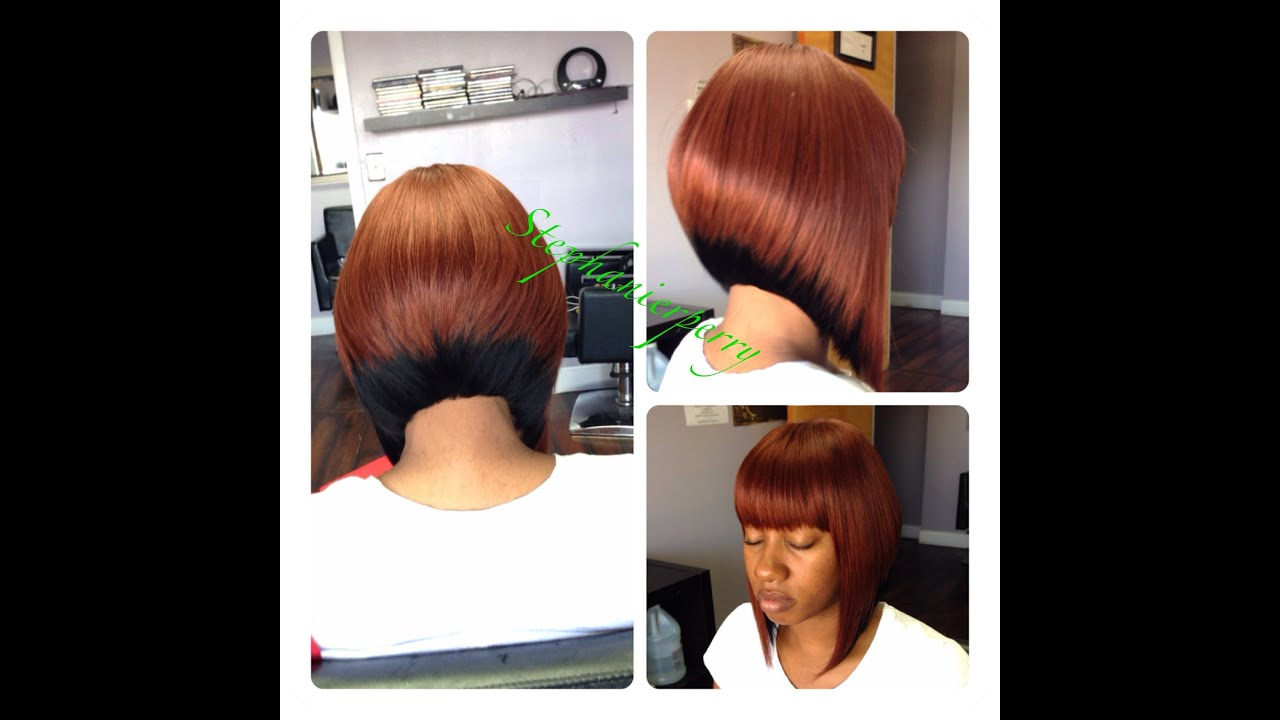 Celebrity Style Sew-in Weave Extension (Bob Cuts) - YouTube