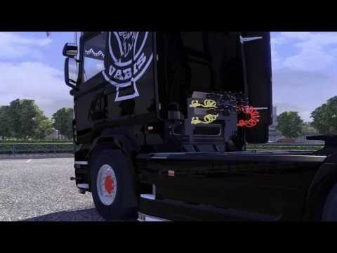 Scania Vabis R + Interior + Krone Coolliner - Version 1.4.8 ETS2 Mod + Downloadlink