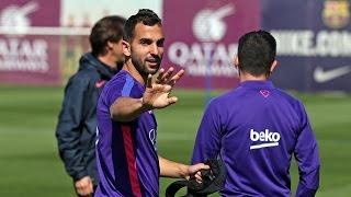 Verbazingwekkend precies schot van FC Barcelona-verdediger