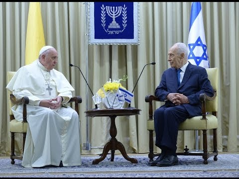 President Peres welcomed Pope Francis to the President's Residence in Jerusalem