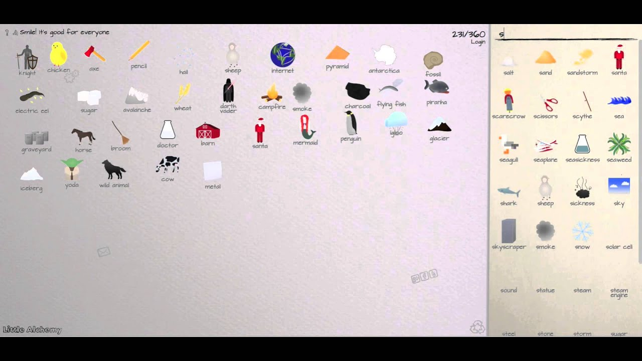 Little alchemy cheats walkthrough 360 elements part 8 for How to make fish in little alchemy