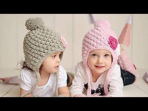 Hướng dẫn móc nón len họa tiết cho bé p2