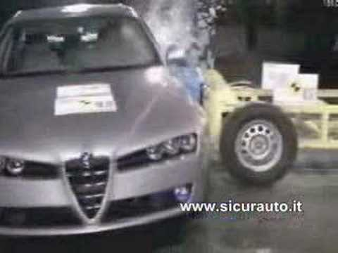 Crash Test EuroNCAP Alfa 159 (2006)