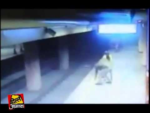 Suicide attempt Video: Woman jumps in front of speeding Delhi Metro train