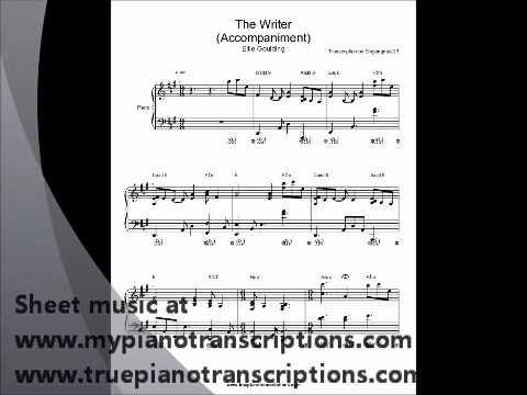 The Writer Ellie Goulding Piano sheet music accompaniment