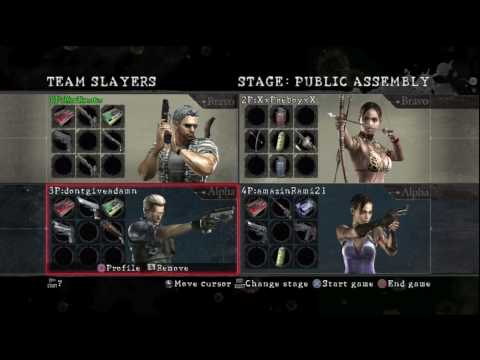 Resident Evil 5 HD Versus Team Slayers Public Assembly Online