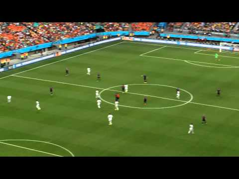 Brazil World Cup 2014-Spain-Holland 1-5 - Casilias saves De Jong's shot
