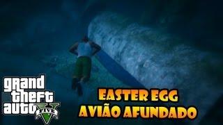 """GTA V: EASTER EGG DO AVIÃO AFUNDADO AVIÃO DO """"LOST"""