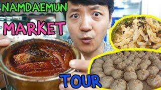 Street Food Tour of LARGEST TRADITIONAL Market in Korea: Namdaemun Market