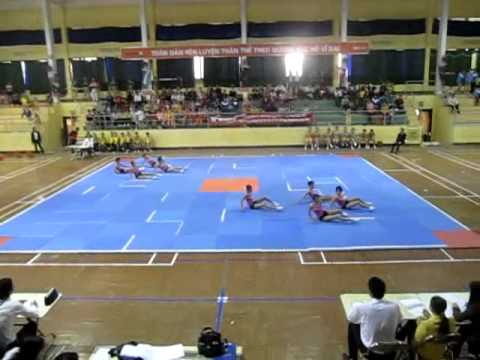 bai aerobic tu chon THCS Cam Ngoc Cam Thuy Thanh Hóa
