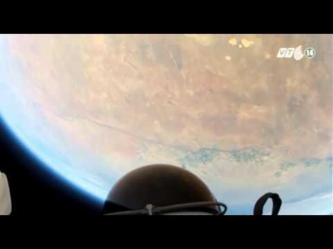 VTC14_Thót tim xem cú nhảy siêu thanh từ vũ trụ về trái đất