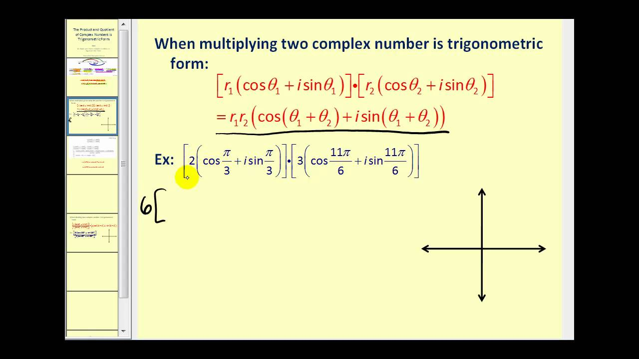 the product and quotient of complex numbers in trigonometric form youtube. Black Bedroom Furniture Sets. Home Design Ideas