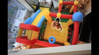 We put a MASSIVE BOUNCE HOUSE in our LIVING ROOM!! | VLOGMAS DAY 14