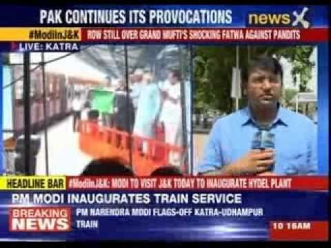 PM Narendra Modi flags-off Katra-Udhampur train