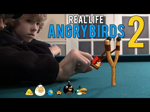 Angry Birds In Real Life, The sequel to our first Viral Angry Birds Video! With tons more angry birds moments you love! LOOK FOR THE GOLDEN EGG! ▶Angry Birds Playlist: http://www.yout...