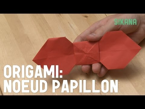 Comment faire un noeud papillon en papier ?