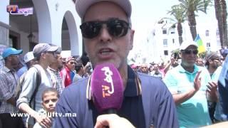البقالي:حراك الريف هو حراك المغرب بأكمله و نطالب من خلال هذه المسيرة بإطلاق سراح المعتقلين | خارج البلاطو