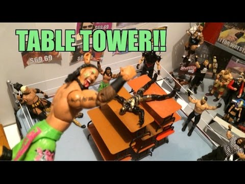 GTS WRESTLING: Concrete Chaos! WWE Figure Matches Animation! Mattel Elite Series 31 Toys