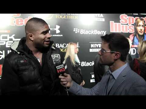 UFC 141 Champion Alistair Overeem Interview at Sports Illustrated Black Eyed Peas Super Bowl Party