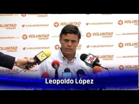Leopoldo López estamos comprometidos con sacar al Gobierno antes de los seis años